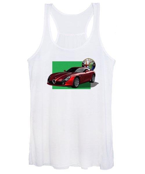 Alfa Romeo Zagato  T Z 3  Stradale With 3 D Badge  Women's Tank Top