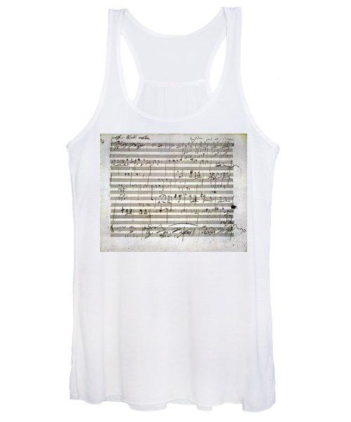 Beethoven Manuscript Women's Tank Top