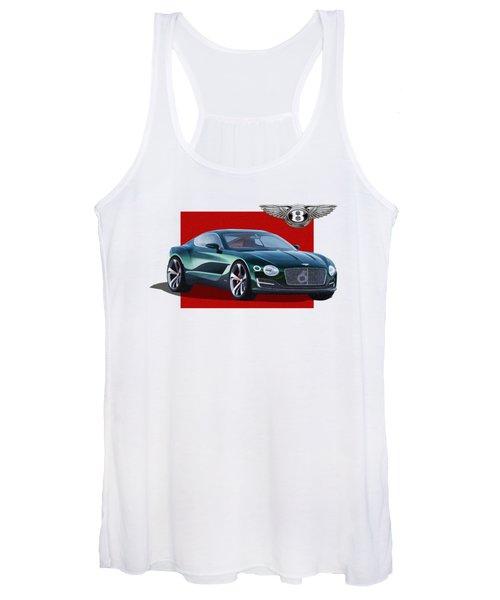 Bentley E X P  10 Speed 6 With  3 D  Badge  Women's Tank Top