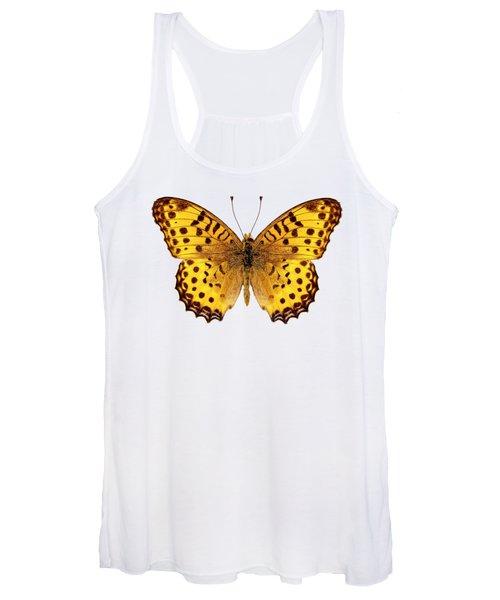 Butterfly Species Argynnis Hyperbius  Women's Tank Top