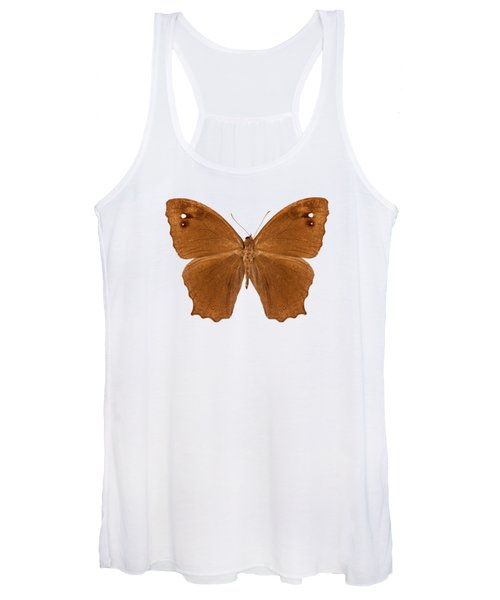 Butterfly Species Melanitis Leda  Women's Tank Top