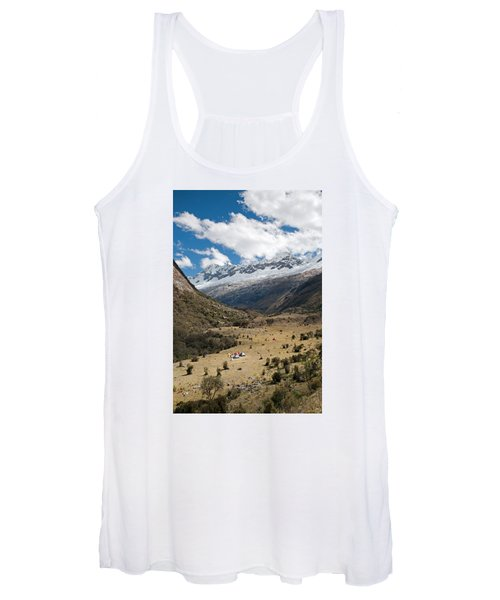 Camping In Huaripampa Valley Women's Tank Top