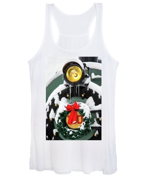 Christmas Train At Pacific Junction Women's Tank Top
