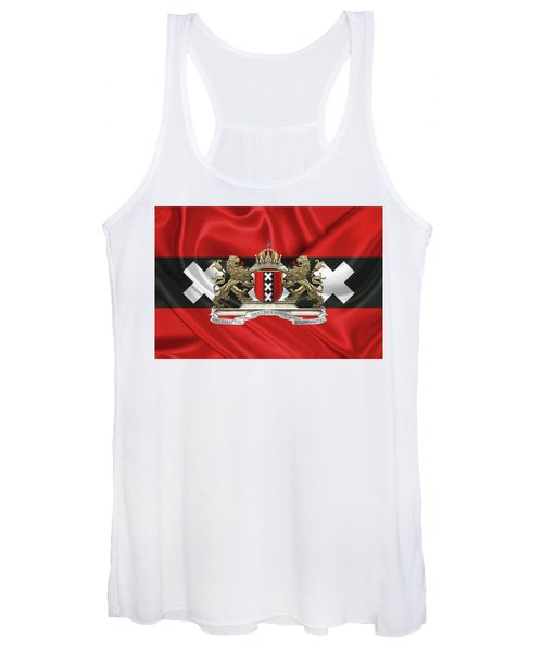 Coat Of Arms Of Amsterdam Over Flag Of Amsterdam Women's Tank Top