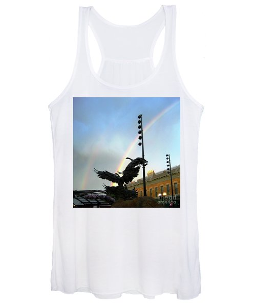 Double Rainbow Over Old Town Square Women's Tank Top