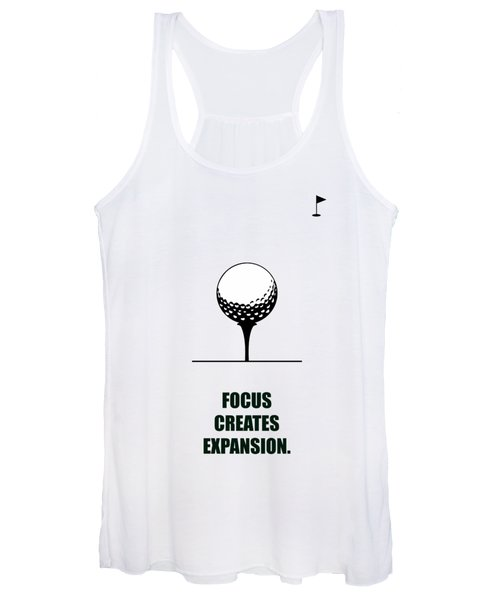 Focus Creates Expansion Corporate Start-up Quotes Poster Women's Tank Top