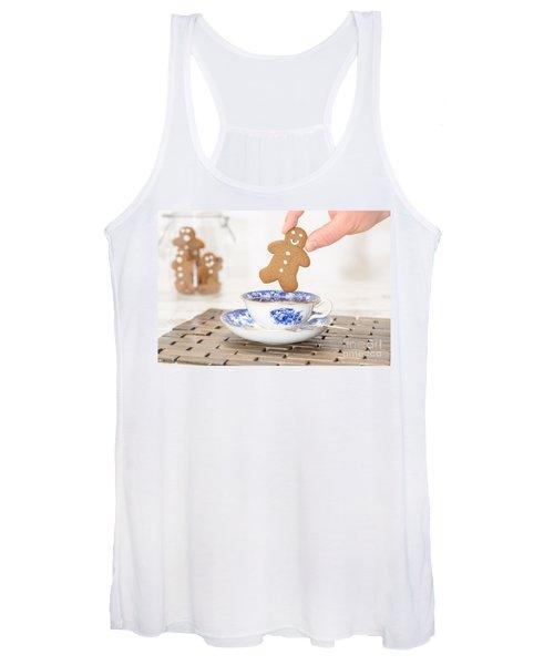 Gingerbread In Teacup Women's Tank Top