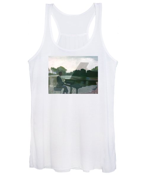 Justin Levitt Steinway Piano Spreckles Lake Women's Tank Top