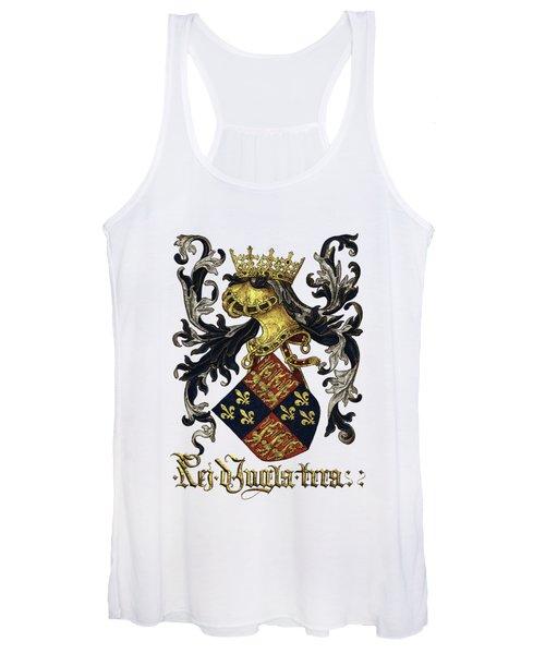 King Of England Coat Of Arms - Livro Do Armeiro-mor Women's Tank Top