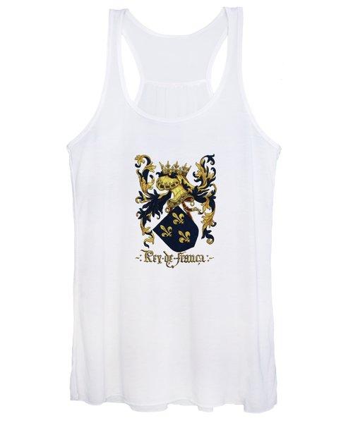 King Of France Coat Of Arms - Livro Do Armeiro-mor  Women's Tank Top