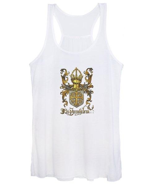 Kingdom Of Jerusalem Coat Of Arms - Livro Do Armeiro-mor Women's Tank Top