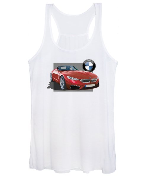 Red 2018 B M W  Z 5 With 3 D Badge  Women's Tank Top