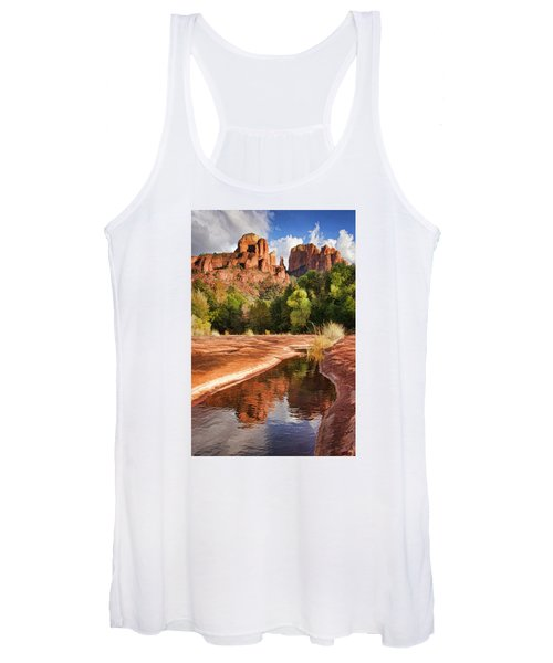 Reflections Of Cathedral Rock Women's Tank Top