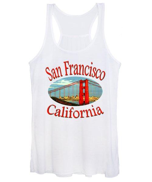 San Francisco California Design Women's Tank Top