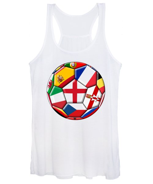 Soccer Ball With Flag Of England In The Center Women's Tank Top