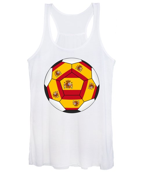 Soccer Ball With Spanish Flag Women's Tank Top