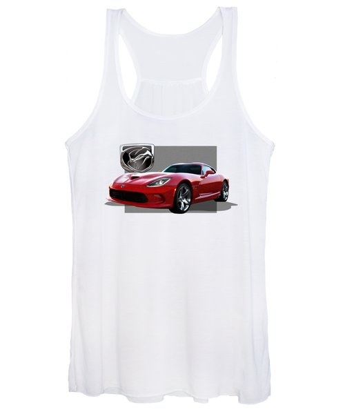 S R T  Viper With  3 D  Badge  Women's Tank Top
