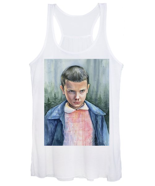 Stranger Things Eleven Portrait Women's Tank Top