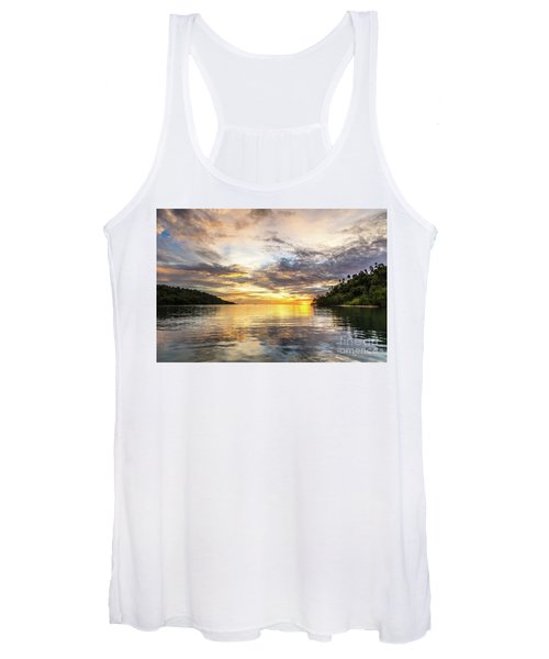 Stunning Sunset In The Togian Islands In Sulawesi Women's Tank Top