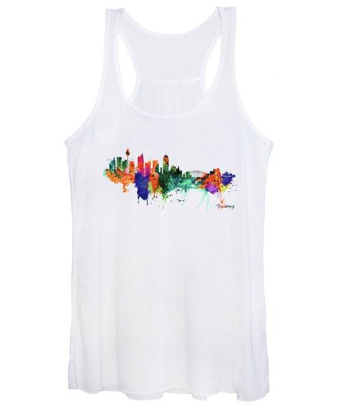 Sydney Watercolor Skyline  Women's Tank Top