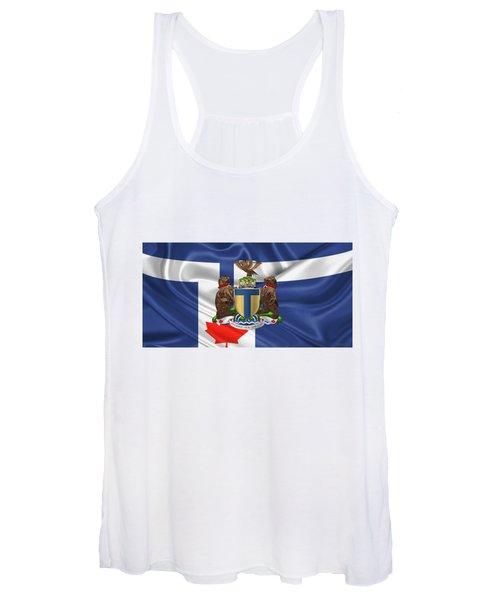 Toronto - Coat Of Arms Over City Of Toronto Flag  Women's Tank Top
