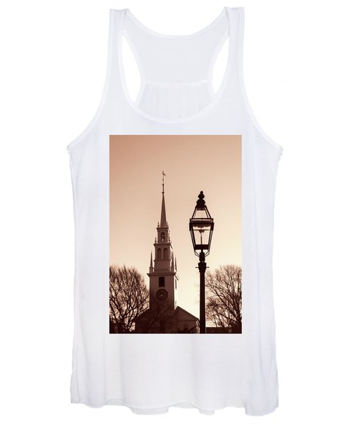 Trinity Church Newport With Lamp Women's Tank Top