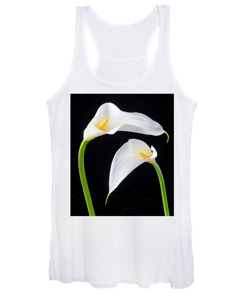 Two Lovely Calla Lilies Women's Tank Top