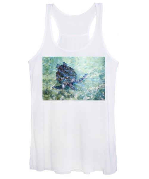 Watercolor Turtle Women's Tank Top