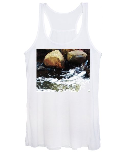 Waterfall Abstract Women's Tank Top