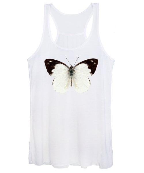 White Butterfly Species Apias Indra Indra Women's Tank Top