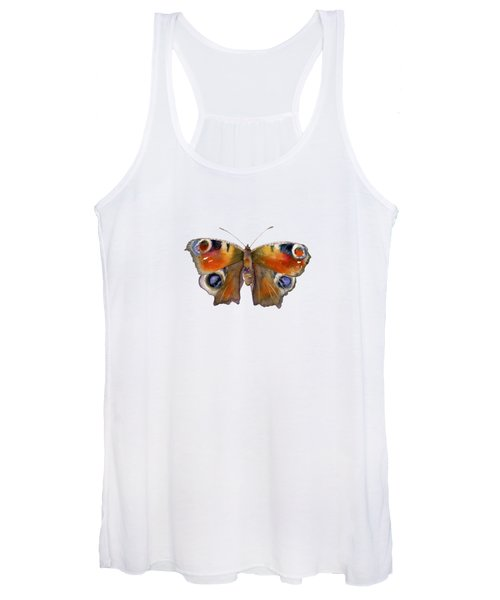 10 Peacock Butterfly Women's Tank Top