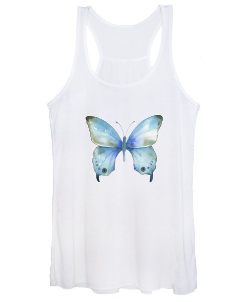 #109 Blue Diana Butterfly Women's Tank Top