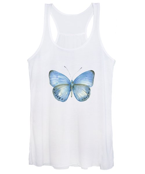 110 Blue Jack Butterfly Women's Tank Top