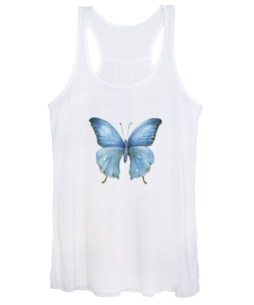 111 Blue Elijah Butterfly Women's Tank Top