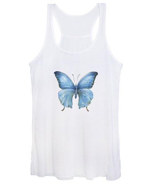 111 Blue Elijah Butterfly Women's Tank Top
