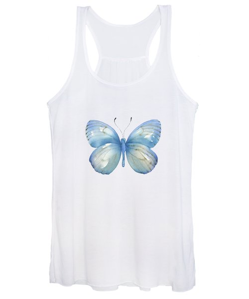 112 Blue Marcia Butterfly Women's Tank Top