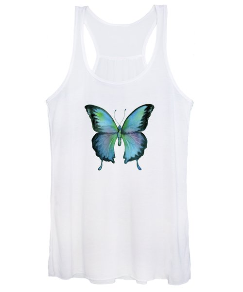 12 Blue Emperor Butterfly Women's Tank Top