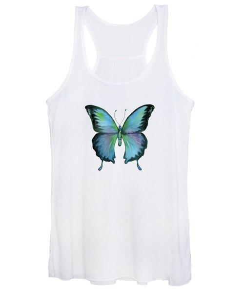 12 Blue Emperor Butterfly Women's Tank Top