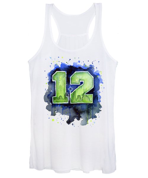 12th Man Seahawks Art Seattle Go Hawks Women's Tank Top