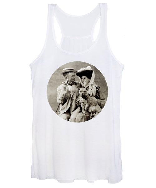 1900 Happy Young Couple Women's Tank Top