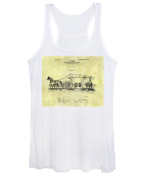 1907 Cotton Harvester Patent Women's Tank Top