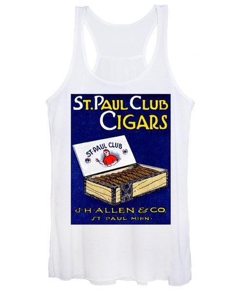 1910 St. Paul Club Cigars Women's Tank Top