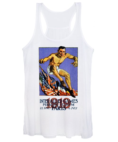 1919 Allied Games Poster Women's Tank Top