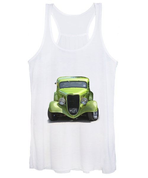 1934 Ford Street Hot Rod On A Transparent Background Women's Tank Top