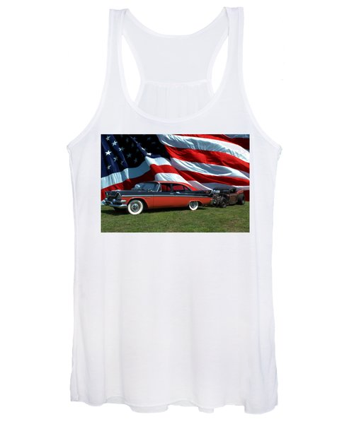 1958 Dodge Coronet And 1935 International Dragster Women's Tank Top