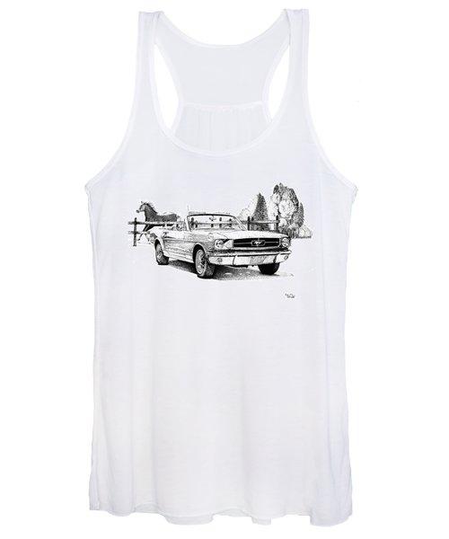 1964.5 Mustang  Women's Tank Top
