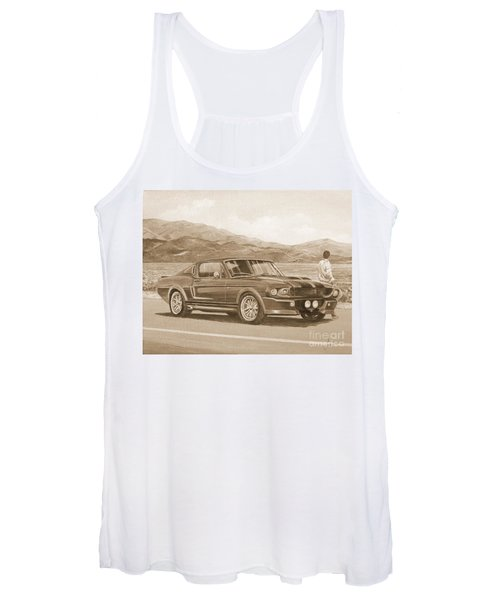 1967 Ford Mustang Fastback In Sepia Women's Tank Top