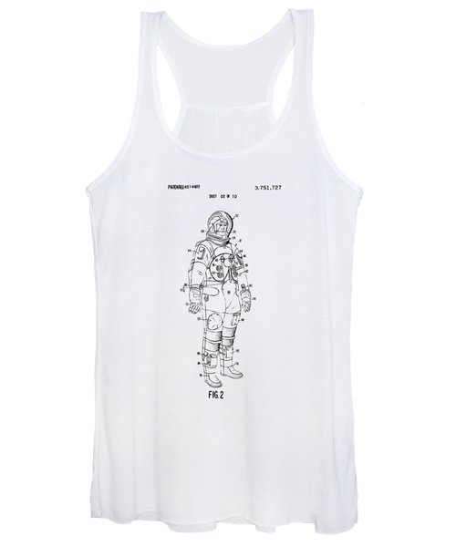 1973 Astronaut Space Suit Patent Artwork - Vintage Women's Tank Top