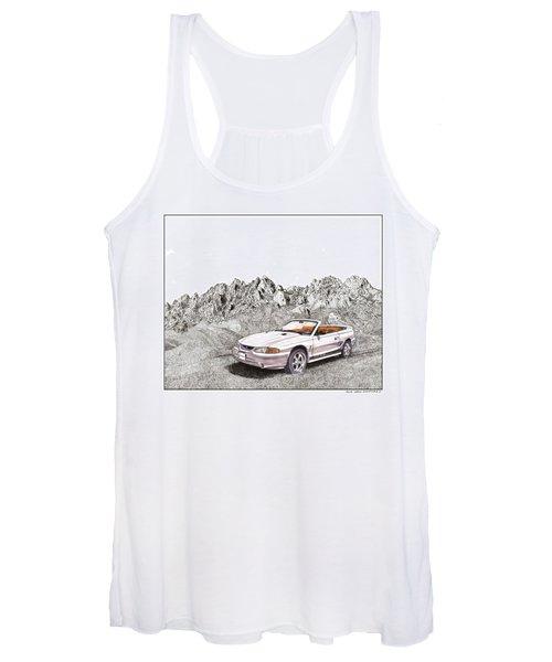 1997 Svt Mustang Cobra Convertible Women's Tank Top