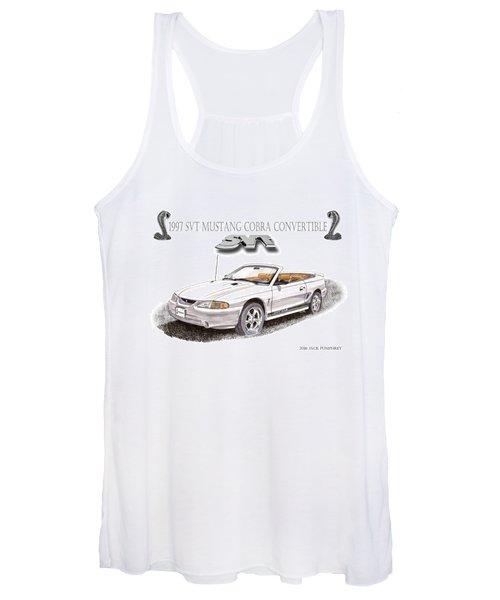 1997 S V T Mustang Cobra Poster Women's Tank Top